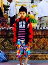 Child wearing thanaka in Yangon