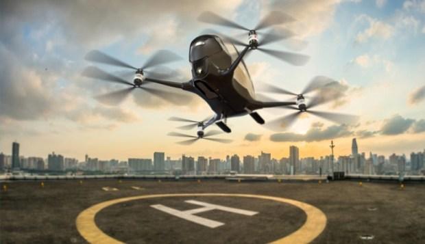 В Китае провели успешное испытание первого в мире пассажирского беспилотника