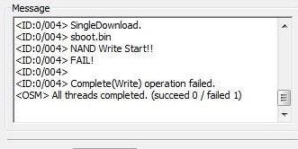 Nand write start fail