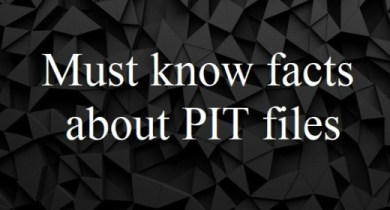 Must know facts about PIT filesMust know facts about PIT files