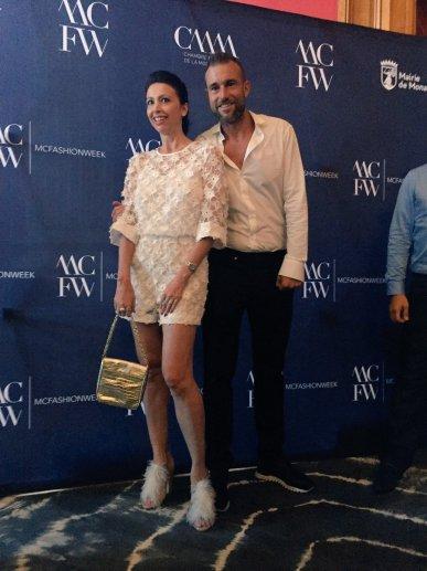 Lorena baricalla e il premiato lo stilista Philipp Plein