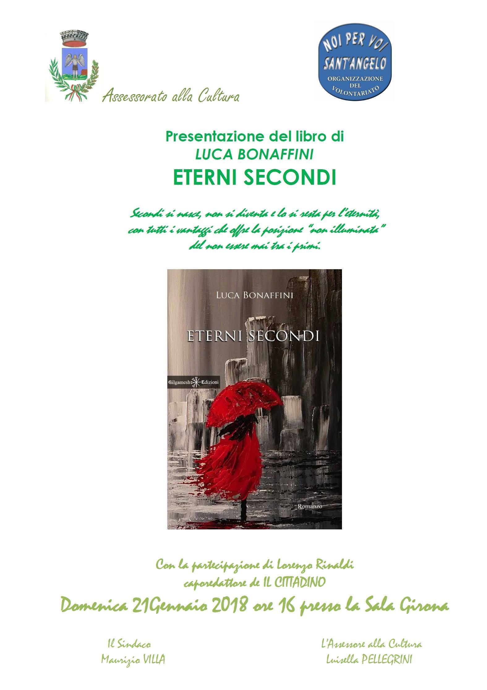 """""""ETERNI SECONDI"""", il nuovo romanzo di Luca Bonaffini traghetta a Sant'Angelo Lodigiano"""