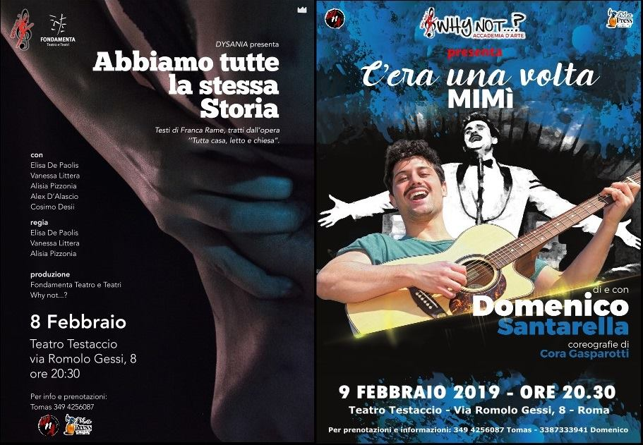 Week end a teatro con l'Accademia Why Not