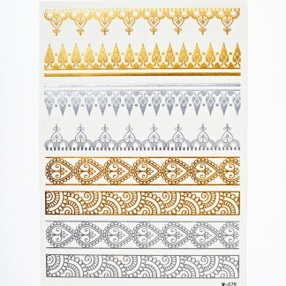 Flash Tattoos - Indischer Filigraner
