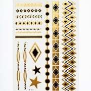 Flash Tattoos - Black n 'Gold