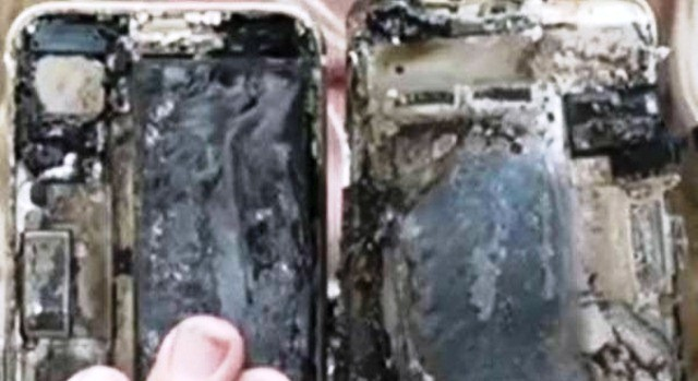 This time Iphone 7 bursts into flames inside a car in Australia