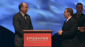 Interviewing Yaalon at the 2010 Epicenter Conference in Philadelphia.