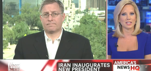 Discussing Iran's new president on the Fox News Channel (August 4, 2013).