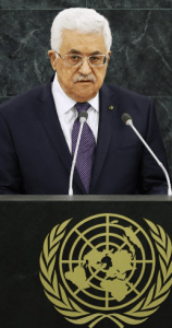 Palestinian leader Mahmoud Abbas address the UN General Assembly.