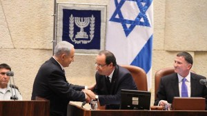 Netanyahu, Hollande at Knesset (Photo: Knesset PR)