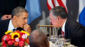 President Obama and Jordan's King Abdullah II.