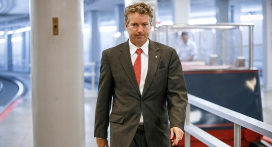 Sen. Rand Paul tries to deny he has called for an end to all US aid to Israel -- but that's exactly what he's done.