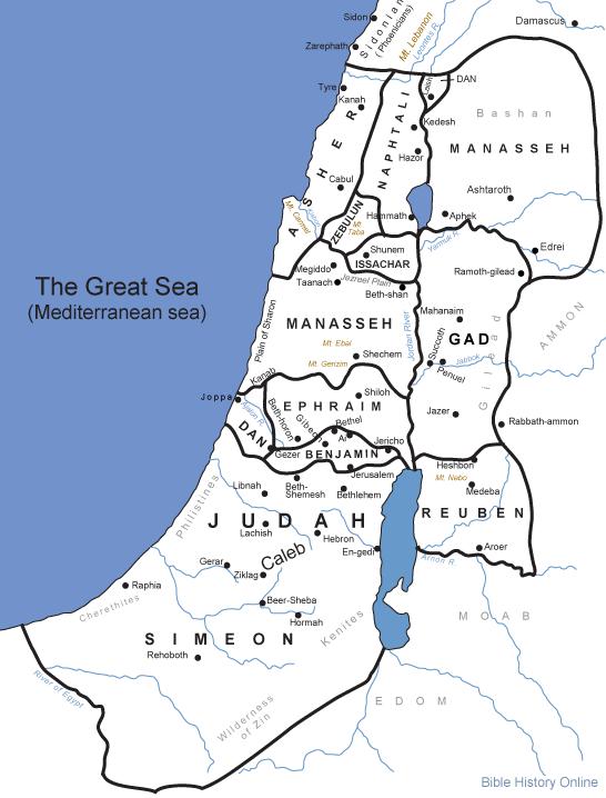 Biblemap-IsraeliteTribes