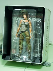 You'll see Lara Croft staring at you, once you pop the lid.