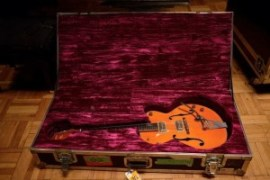 One of Brian's beautiful Gretsch guitars