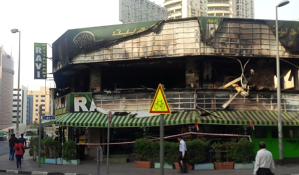fire at Ravi Restaurant Bur Dubai