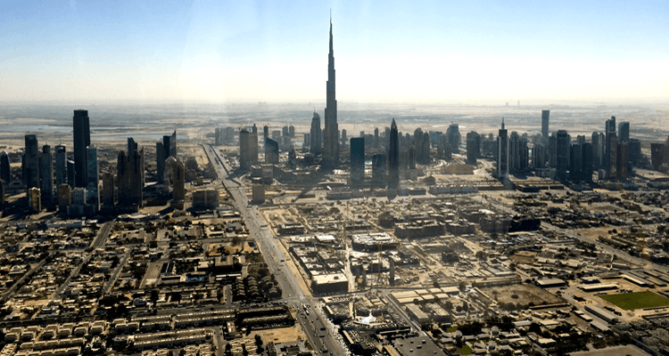 Burj Khalifa from 100 miles