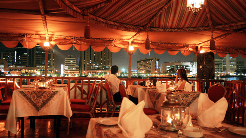 Romantic Dinner at Dubai Dhow Cruise