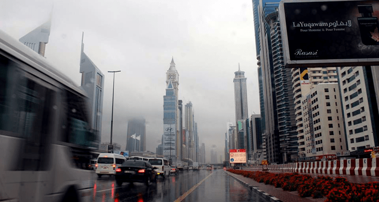 Rainfall in Dubai
