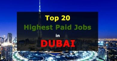 Highest Paid Jobs in Dubai