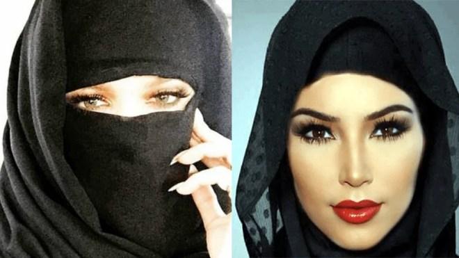 Kim Kardashian Hijab in Dubai
