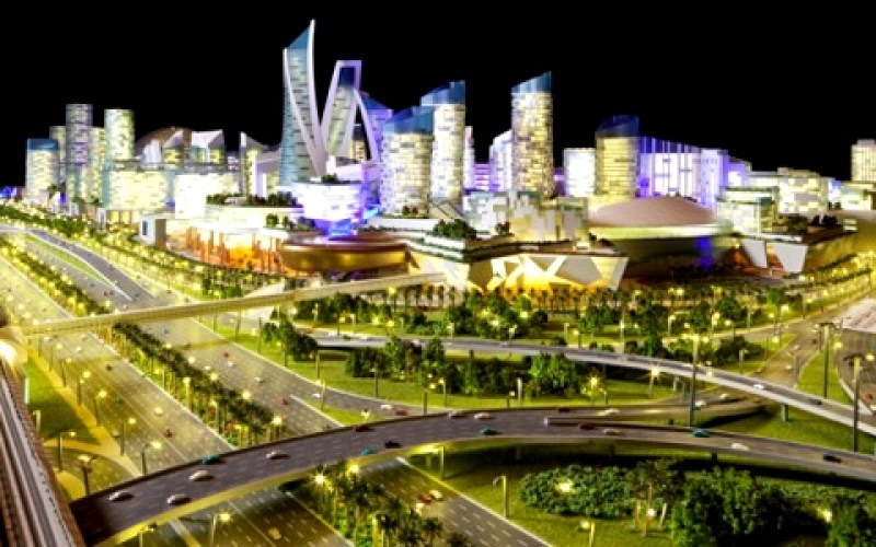 View from Sheikh Zayed Road - Mall of the World