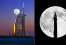 Supermoon in Dubai