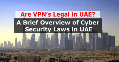 Are VPN legal in UAE