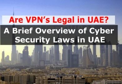 Are VPN legal in UAE