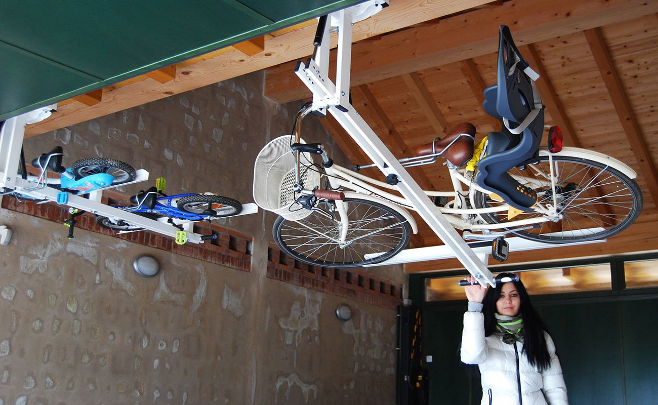 Ceiling Overhead Bike Rack For City Bike