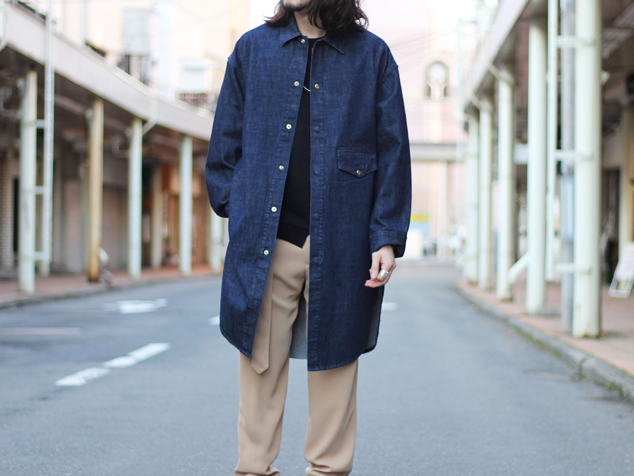 【CULLNI】DENIM LONG SHIRT 19-SS-010