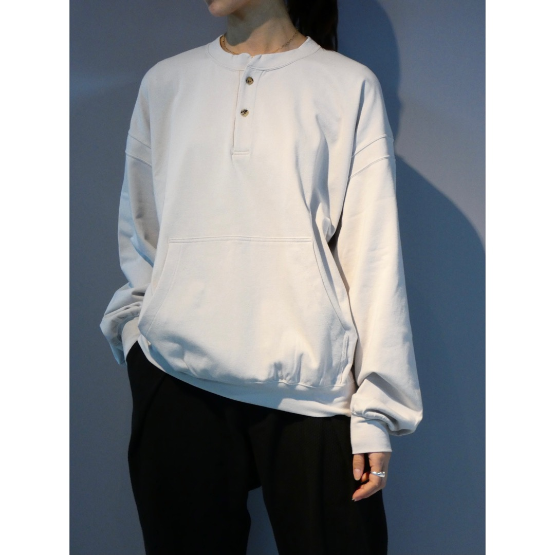 【MATSUFUJI】Henry Neck Sweat Shirt