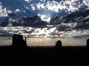 Dawn clouds over Monument Valley AZ