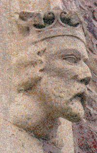 Bust on church exterior wall, Meigle Scotland