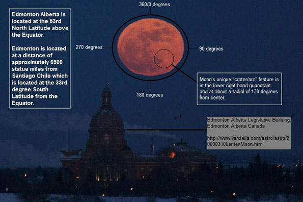 Alberta full moon proves globe earth, not flat earth
