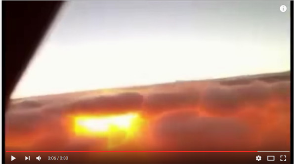 Flat earth sun video from plane