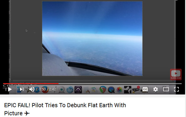 EPIC FAIL! Pilot Tries To Debunk Flat Earth With Picture
