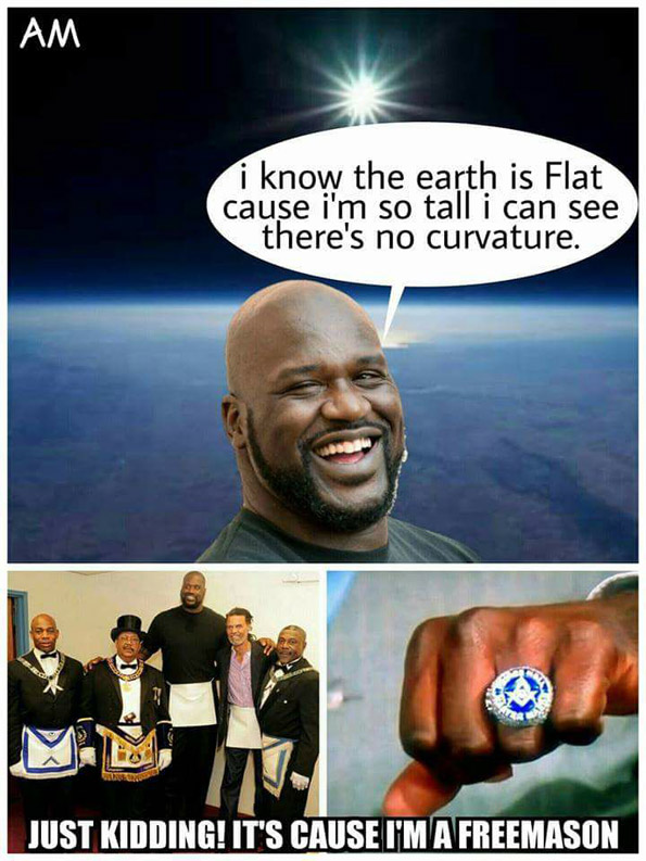 Flat earthers are posting on Facebook that Shaq, Shaquille O'Neil, a former NBA star; is proclaiming that the Earth is flat.
