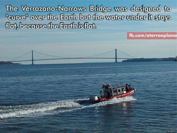 Verrazano–Narrows Bridge the curvature of the Earth's surface had to be taken into account