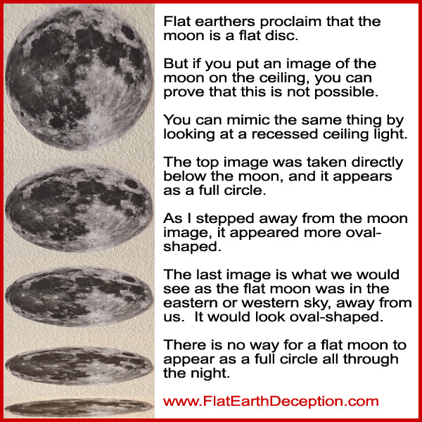 Flat earthers proclaim that the moon is a flat disc, but that simply cannot be true.