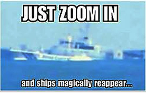 Paul Raines declared that there is no curve and all you have to do is zoom in to see the boat.
