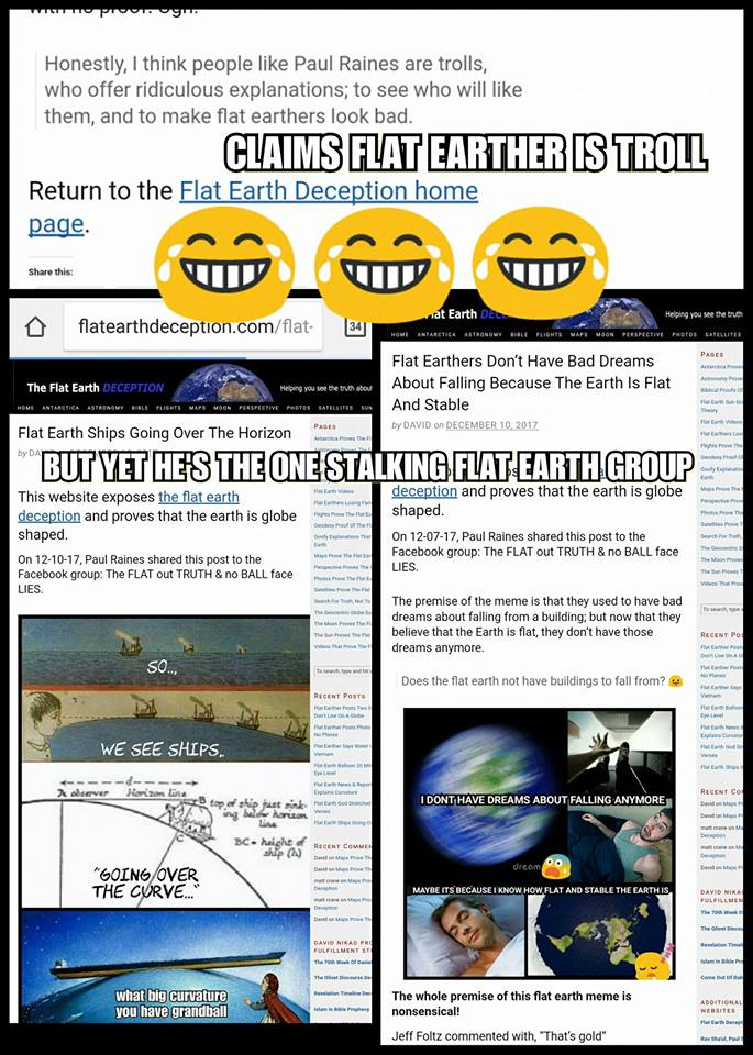 Paul Raines Flat Earth Troll