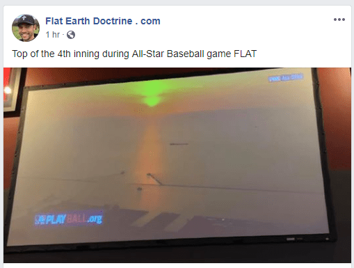 nathan roberts flat earth on flat screen tv