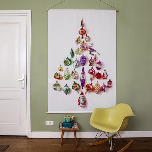 kerstboom op stof