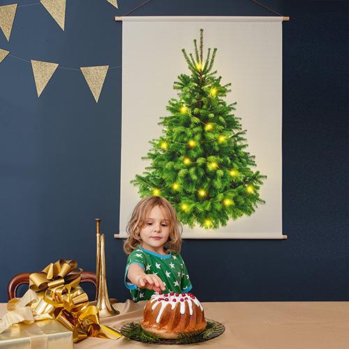 kerstboom op stof, duurzame kerstboom