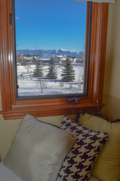 Bedroom nook view