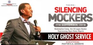 RCCG SEPTEMBER 2018 HOLY GHOST SERVICE