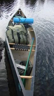 Canoe loaded, ready to roll