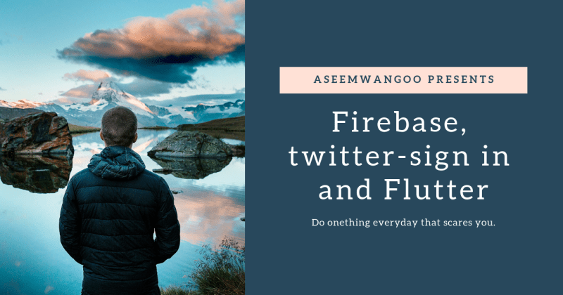 Firebase, twitter sign-in and Flutter