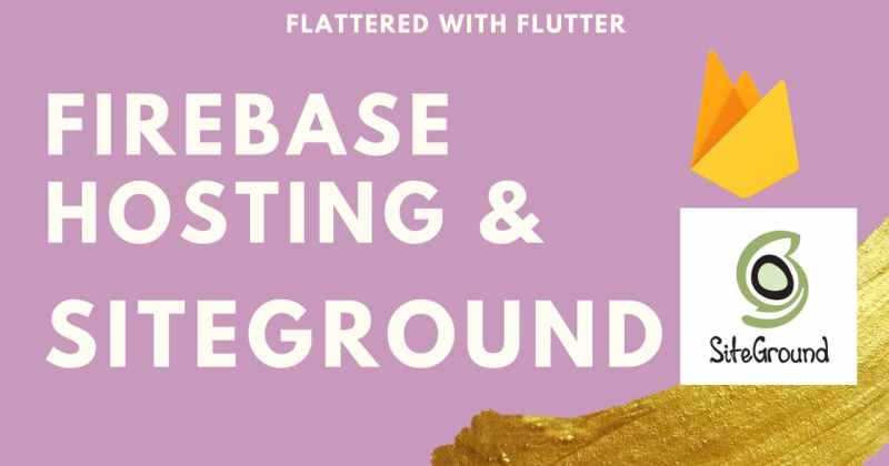Firebase Hosting and Siteground